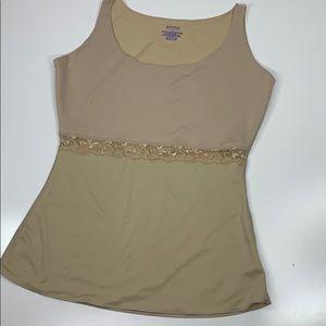 SPANX Nude Sleeveless Shape wear Tank Stretch L